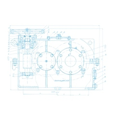 Abstract engineering drawing background vector