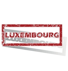 Luxembourg outlined stamp vector