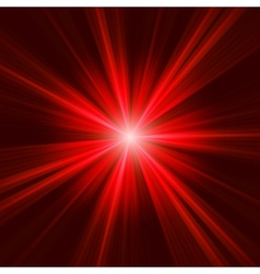 Red bursting star on dark background eps 8 vector