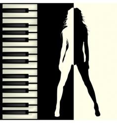 Piano bar vector