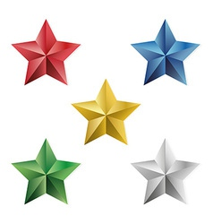 Set of precious stars isolated objects vector