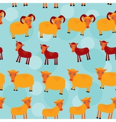 Ram ewe and lamb set of funny animals with cubs vector