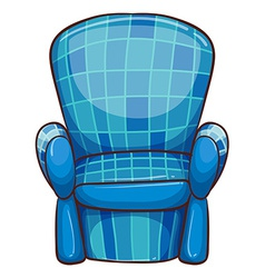 A blue chair vector