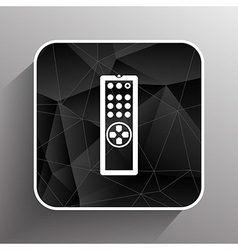 Remote control tv icon isolated media vector