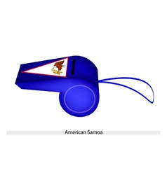 A blue whistle of american samoa flag vector