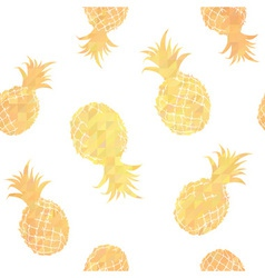Geometric seamless pattern with pineapples vector