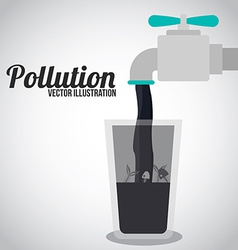 Pollution design over white background vector