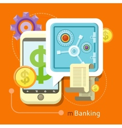 Internet online banking concept vector