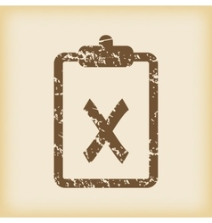 Grungy decline icon vector