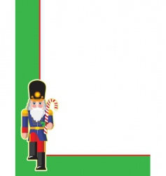 Toy soldier corner vector