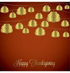 Elegant string thanksgiving card in format vector