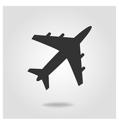 Airplane icon flat design style vector