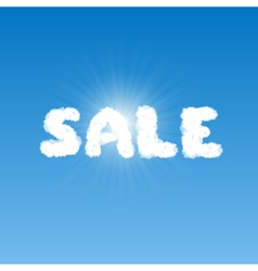 Sale shape clouds vector