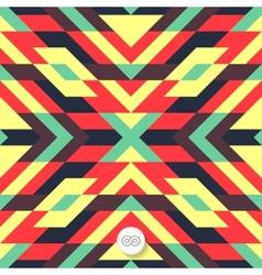 Seamless mosaic pattern geometric background vector