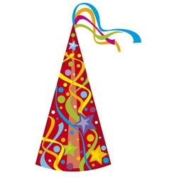 Party hat - birthday hat vector