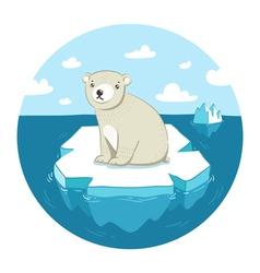 Polar bear on ice vector