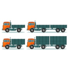 Orange empty truck vector
