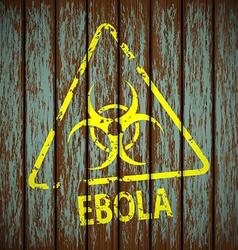 Biohazard symbol on a wooden wall vector