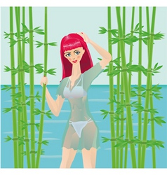 Nature girl vector