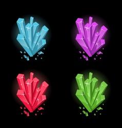 Magic crystals vector
