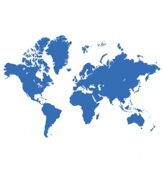 World map live traced vector