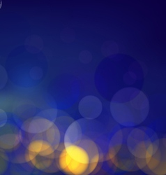 Classic blue bokeh background vector