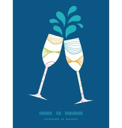 Colorful horizontal ogee toasting wine vector