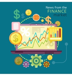 News from finance market vector