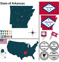 Map of arkansas vector