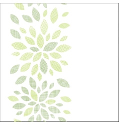 Fabric textured abstract leaves vertical seamless vector