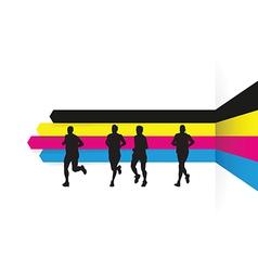 Cmyk runners vector