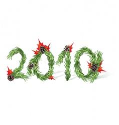 New year 2010 vector