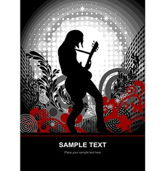 Music guitarist web and print template vector