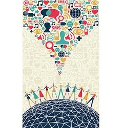 Social media people concept vector