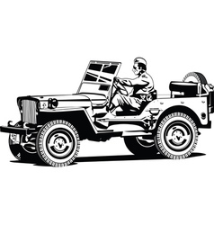World war two army all road vehicle vector
