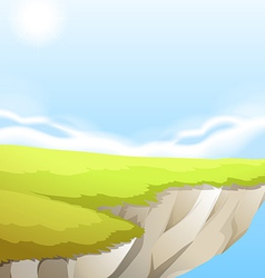 Cliff background design vector