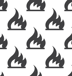 Fire seamless pattern vector