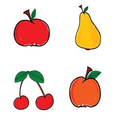 Fruit in color vector