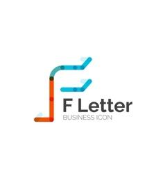 F letter logo minimal line design vector