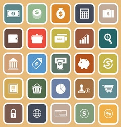 Money flat icons on orange background vector