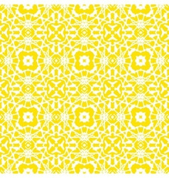 Geometric art deco pattern in bright yellow vector