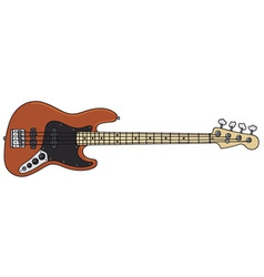 Electric bass guitar vector