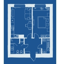 Architecture blueprint plan vector