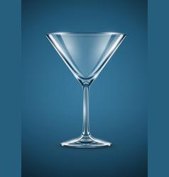 Glass goblet for martini vector