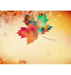 Autumnal maple leaf made of triangles eps 10 vector