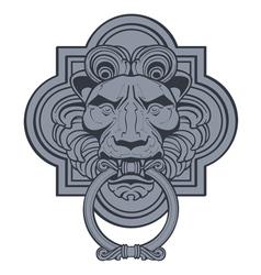 Lion head door knocker vector