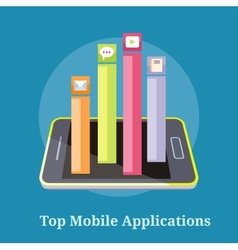 Top apps mobile applications vector