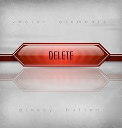 Delete button vector