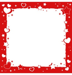 Valentine love romantic frame with hearts and star vector