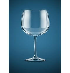 Glass goblet for wine drink vector